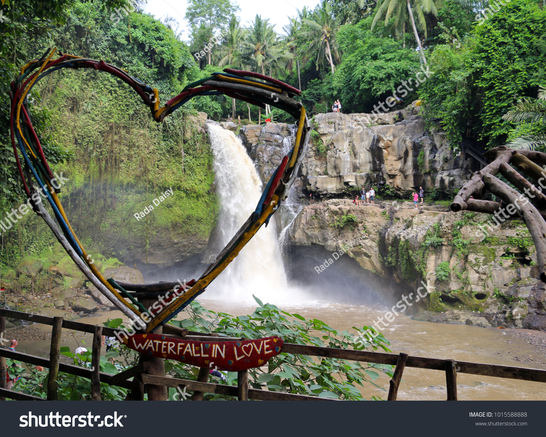 Scenic Tegenungan Waterfall Located Ubud Bali Stock Photo Edit Now