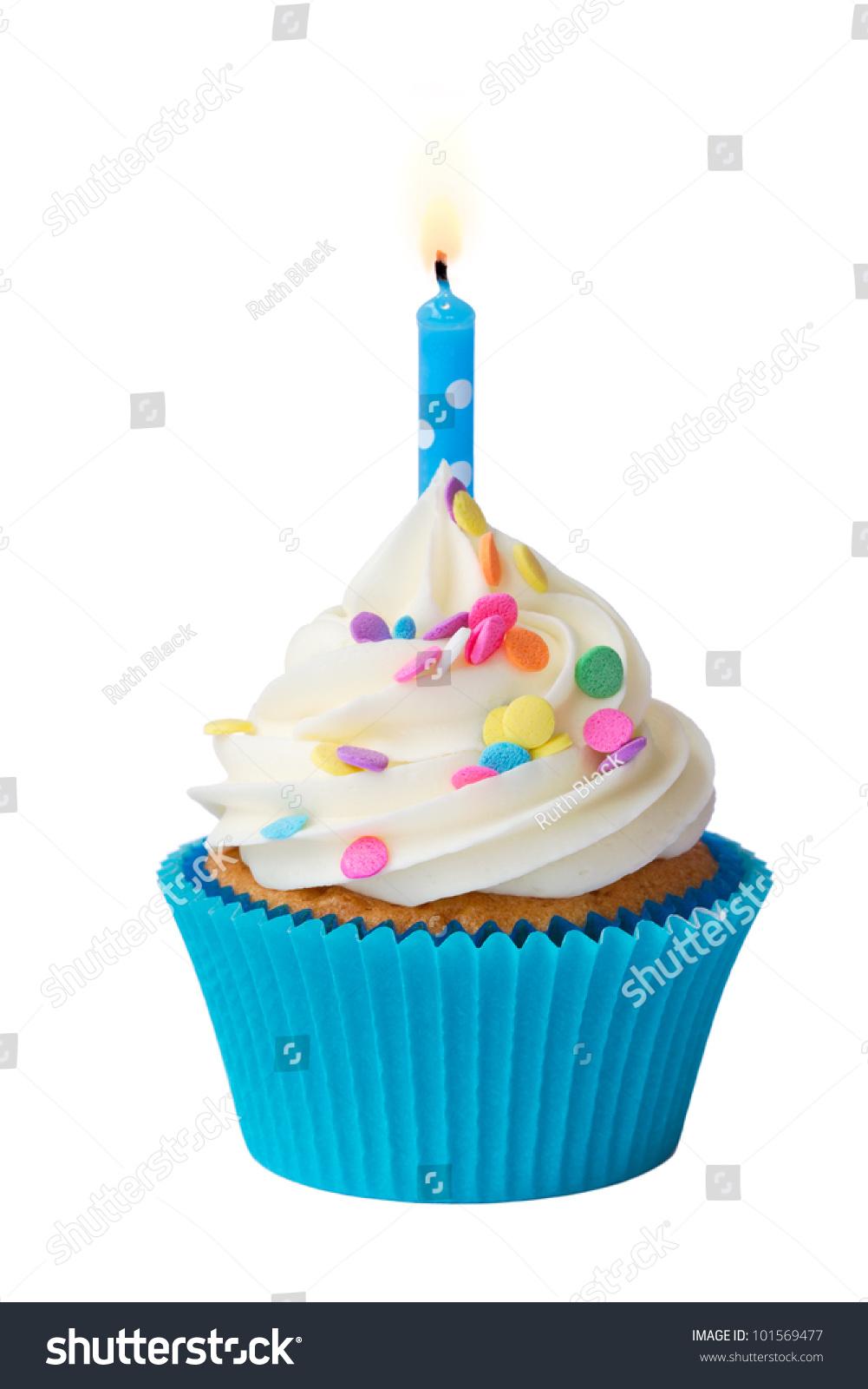 Birthday Cupcake Stock Photo 101569477 Shutterstock