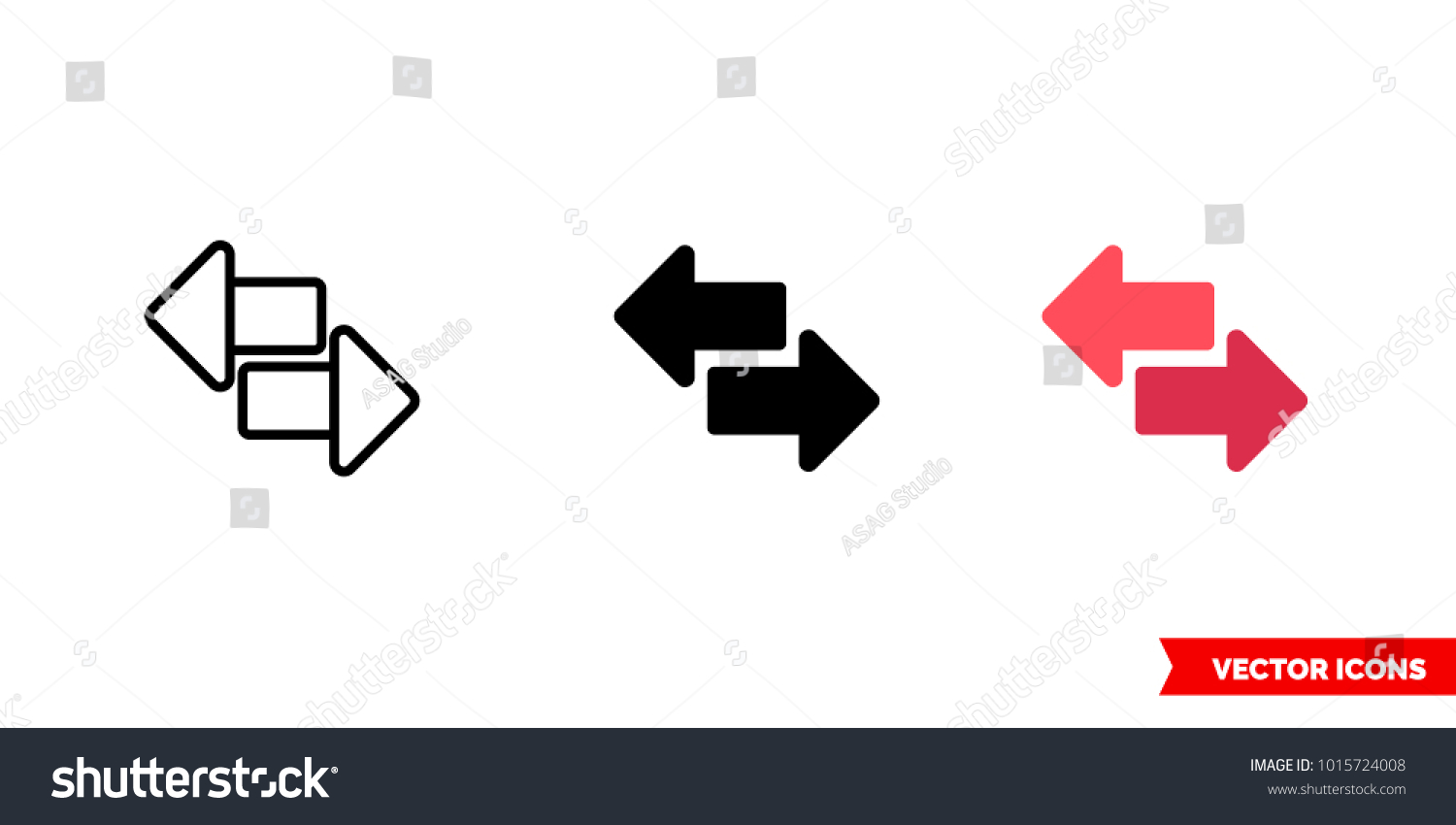 Switch Power Icon 3 Types Color Stock Vector 1015724008 Shutterstock