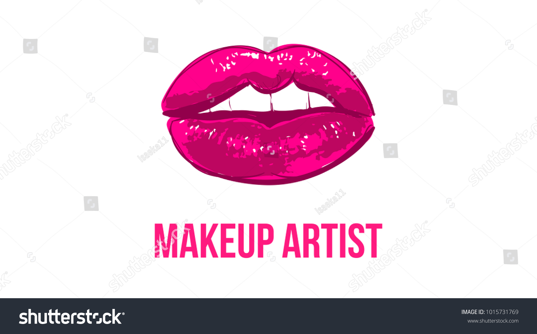 Makeup Artist Business Card Business Cards Stock Vector 1015731769 ...