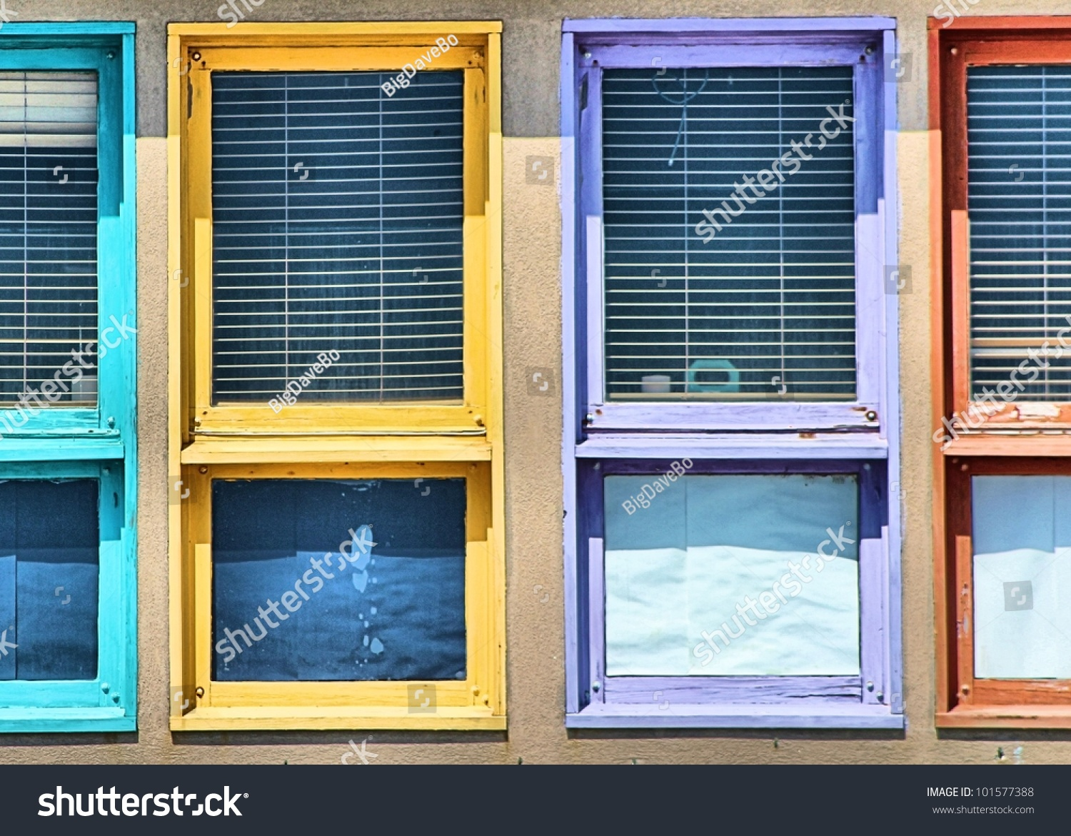 colored window frame