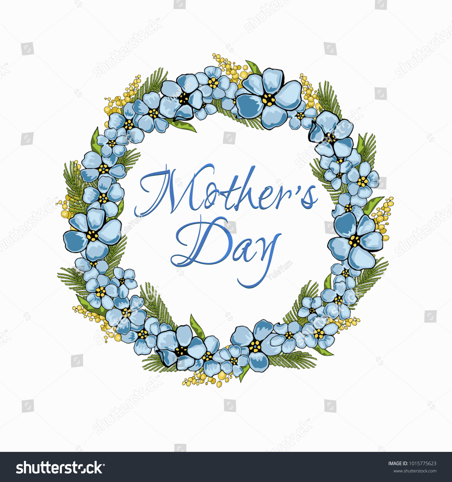 Greeting card mothers day spring flowers stock vector royalty free greeting card for mothers day spring flowers vector illustration with forget me m4hsunfo