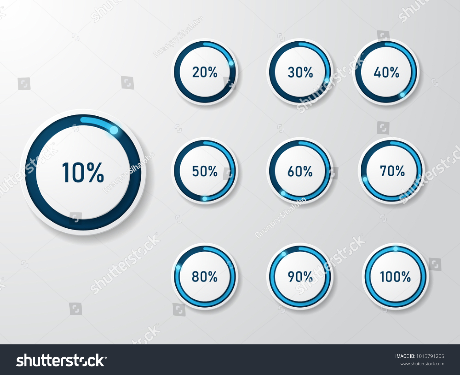 infographic pie chart templates can be stock vector royalty free