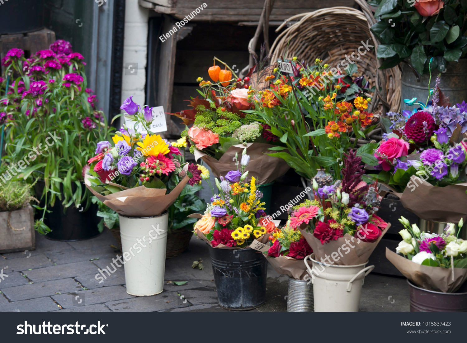 A display of bunches of vibrant flowers for sale ez canvas izmirmasajfo