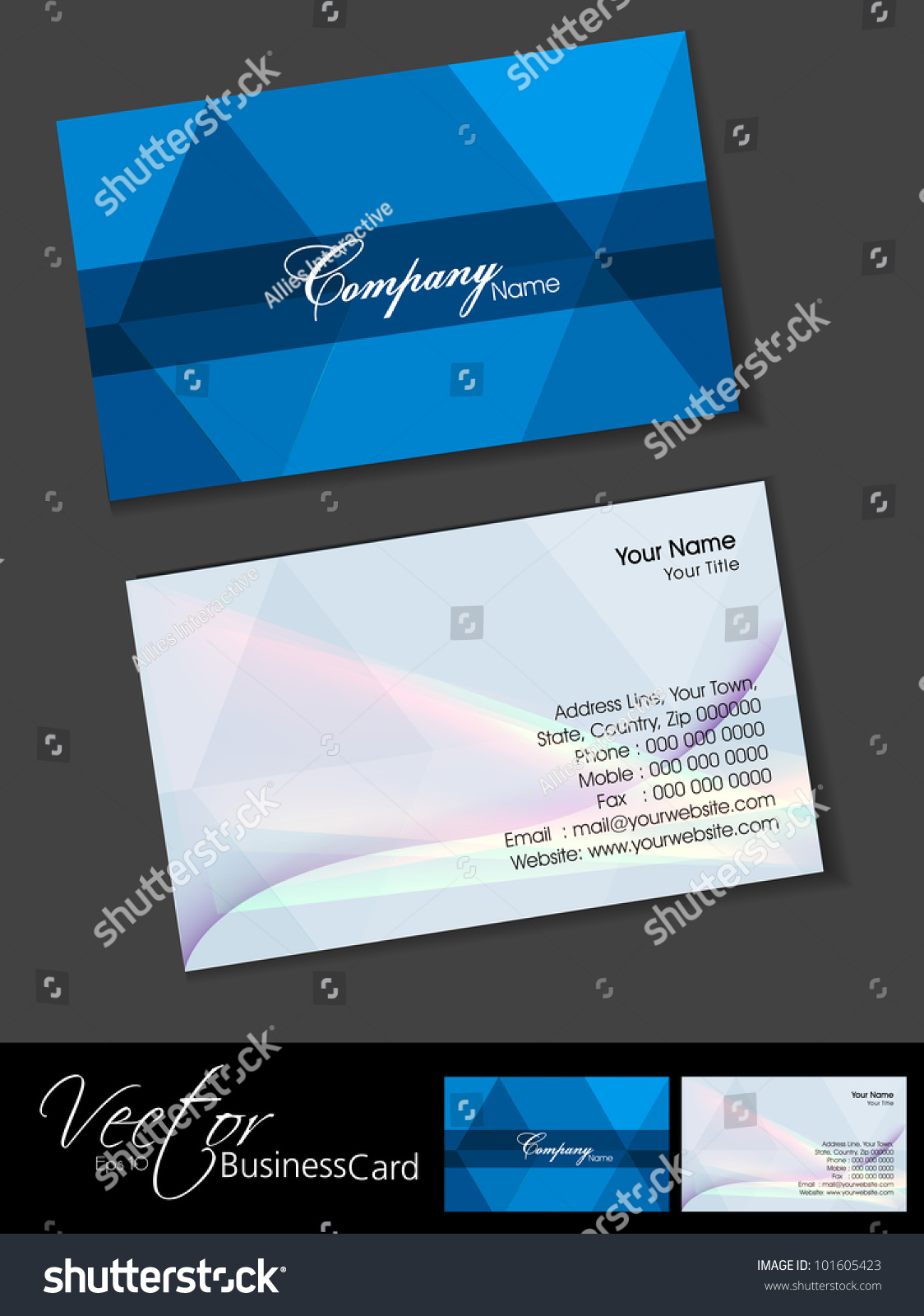 Professional Business Cards Template Visiting Card Stock Vector - Professional business card template