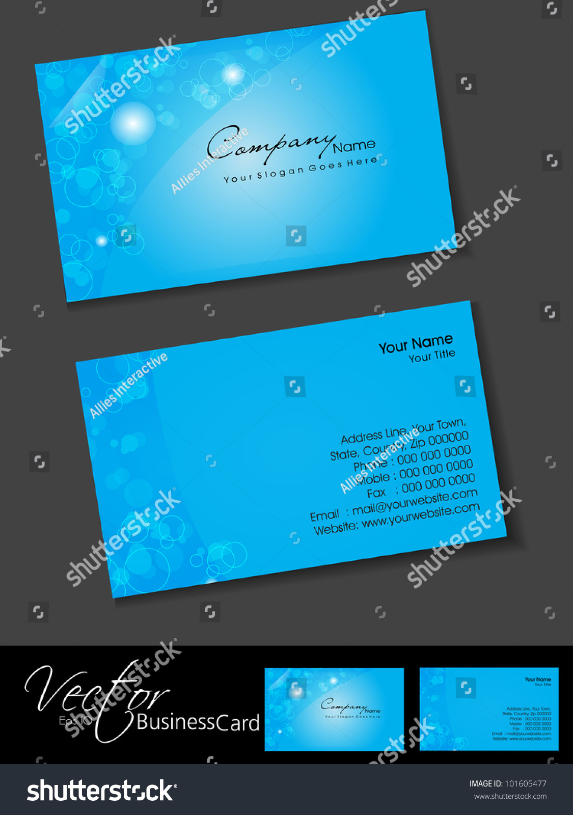 Professional Business Cards Template Visiting Card Stock Vector ...