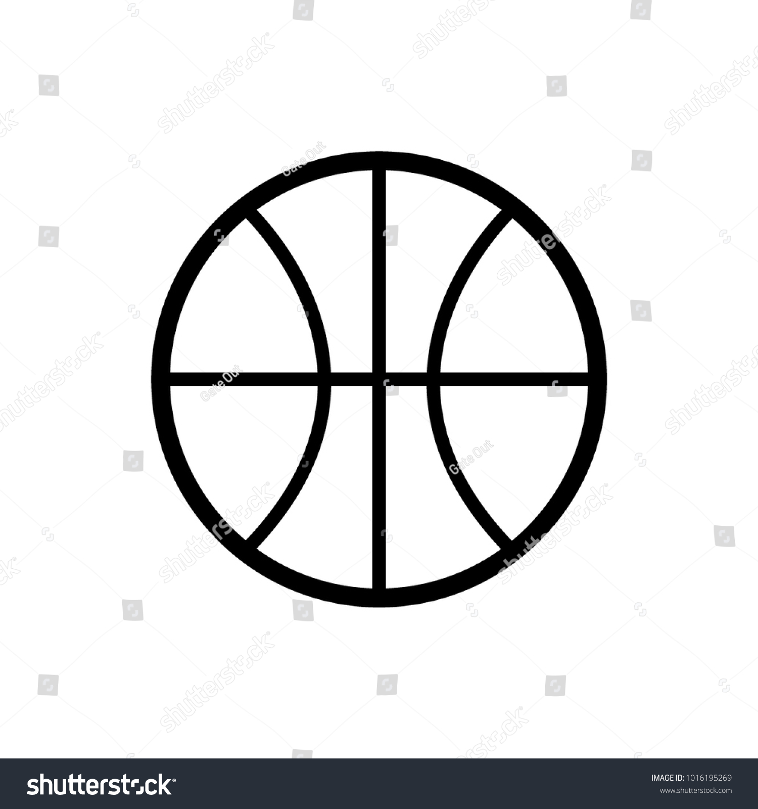 Icon Basketball Template Stock Vector 1016195269 - Shutterstock