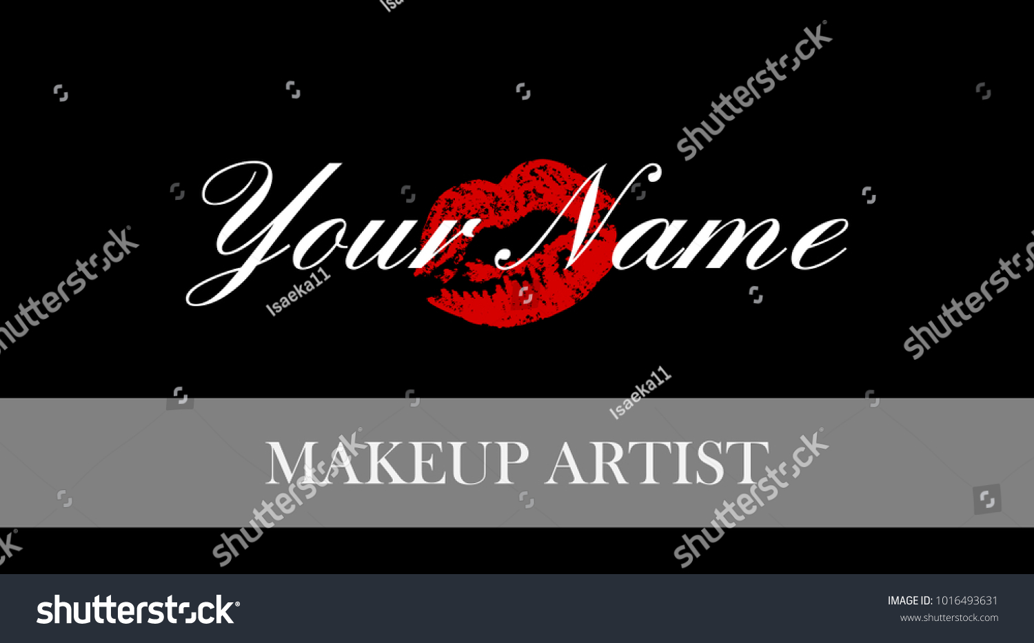 Makeup Artist Business Card Business Cards Stock Photo (Photo ...
