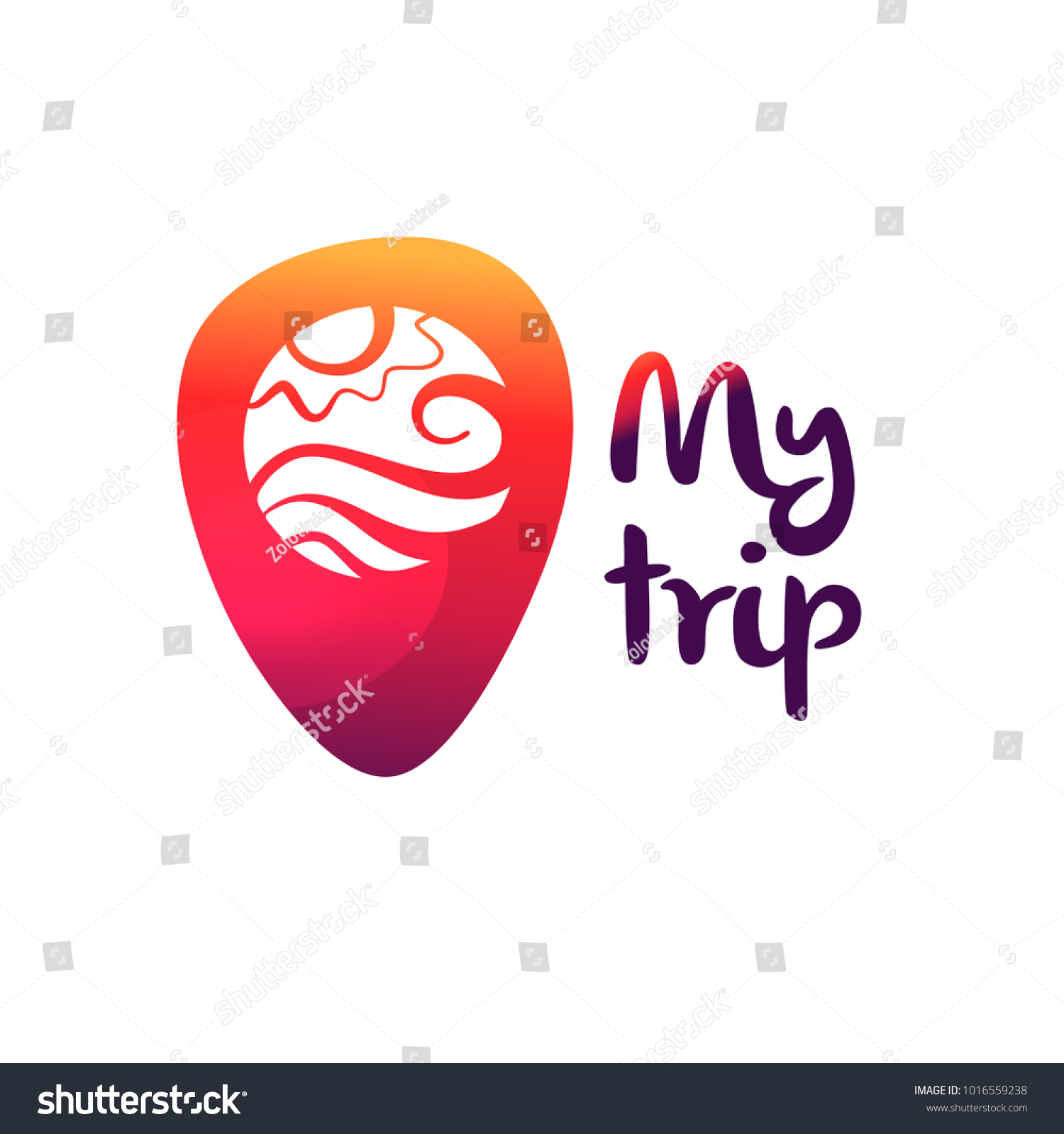 template logo travel agency text my のベクター画像素材