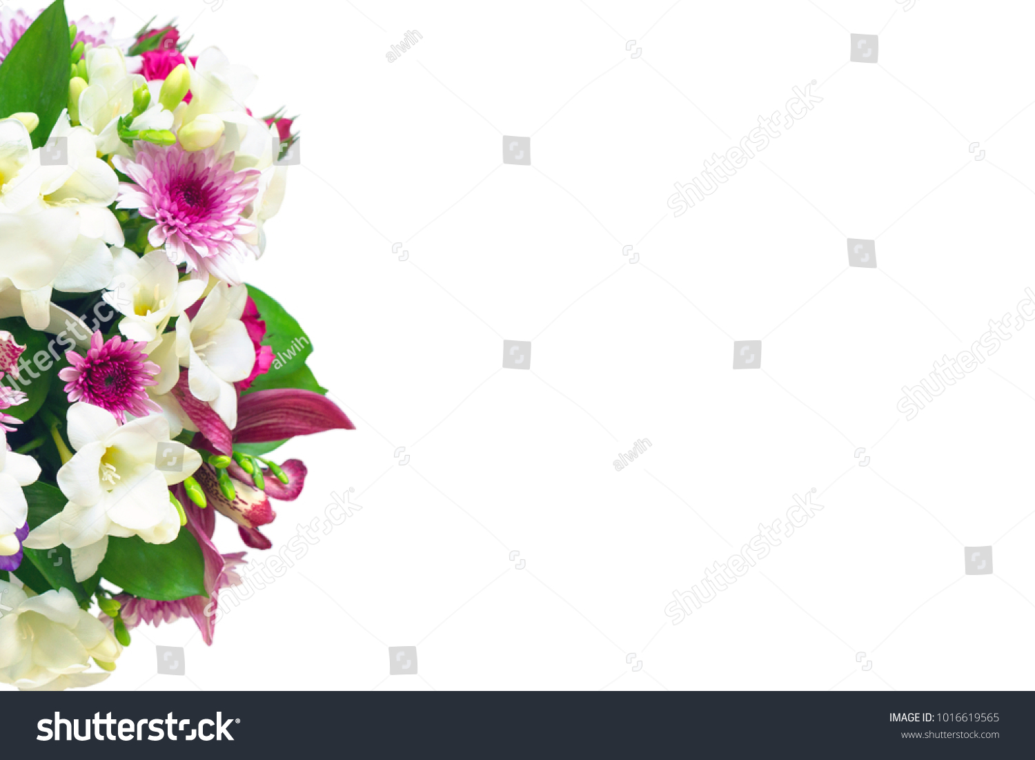 Background bouquet flowers place insert text stock photo edit now background with a bouquet of flowers place to insert text for bloggers congratulations izmirmasajfo