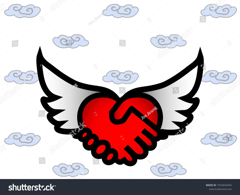 Optical Illusion Art Red Heart White Stock Illustration 1016654434