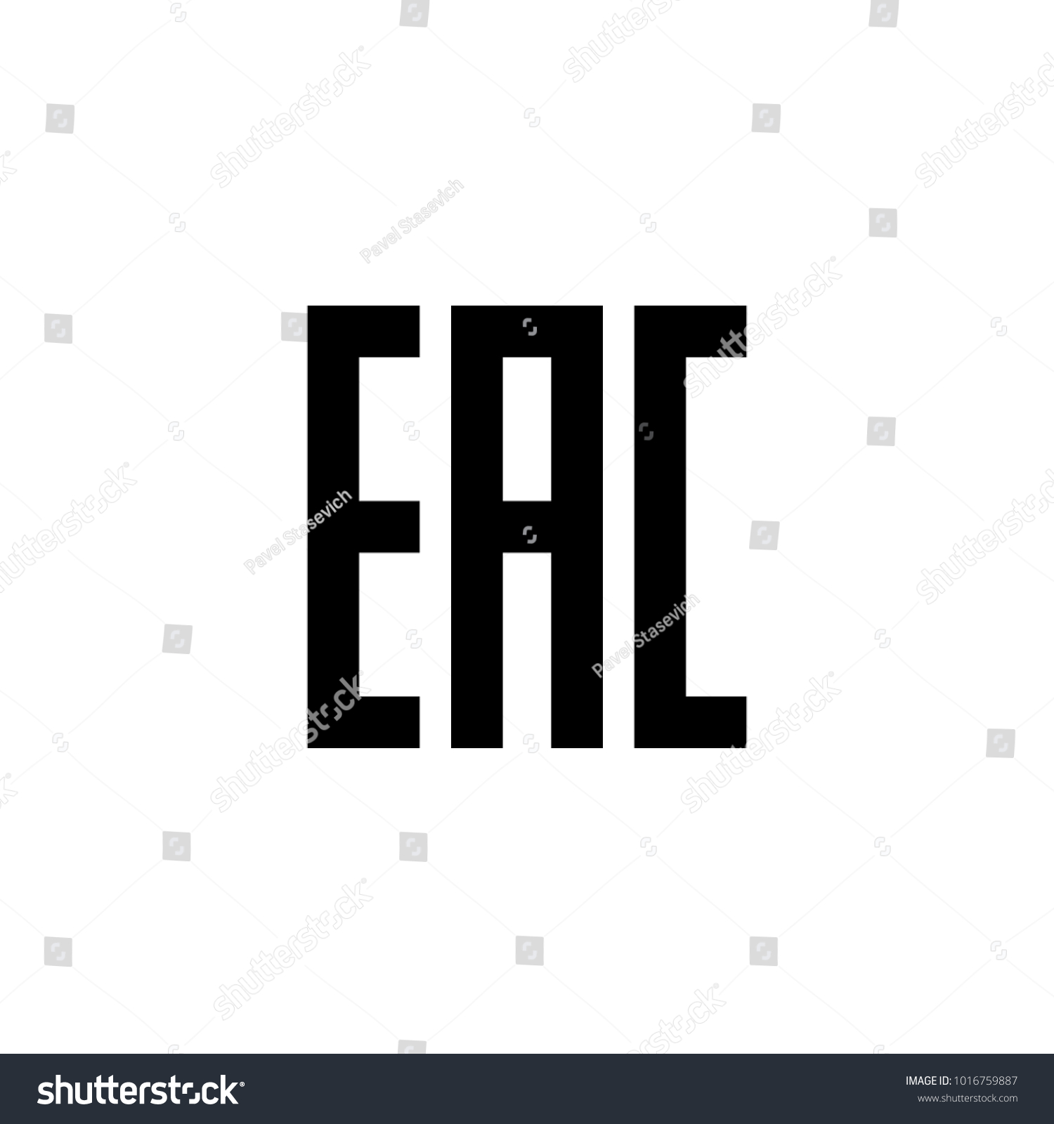 Eurasian Conformity Eac Certification Mark Indicate Stock Vector