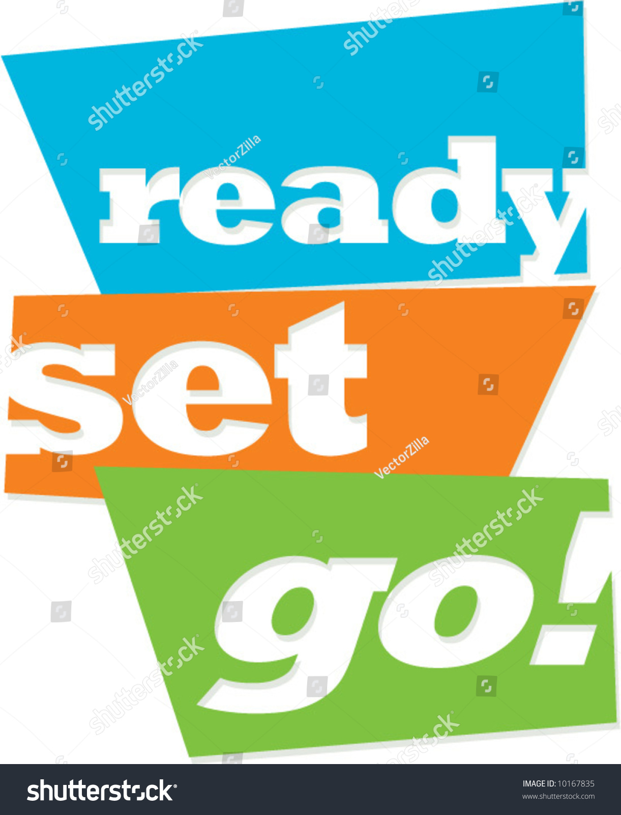 Vector sign readysetgo stock vector 10167835 shutterstock for Ready to go images