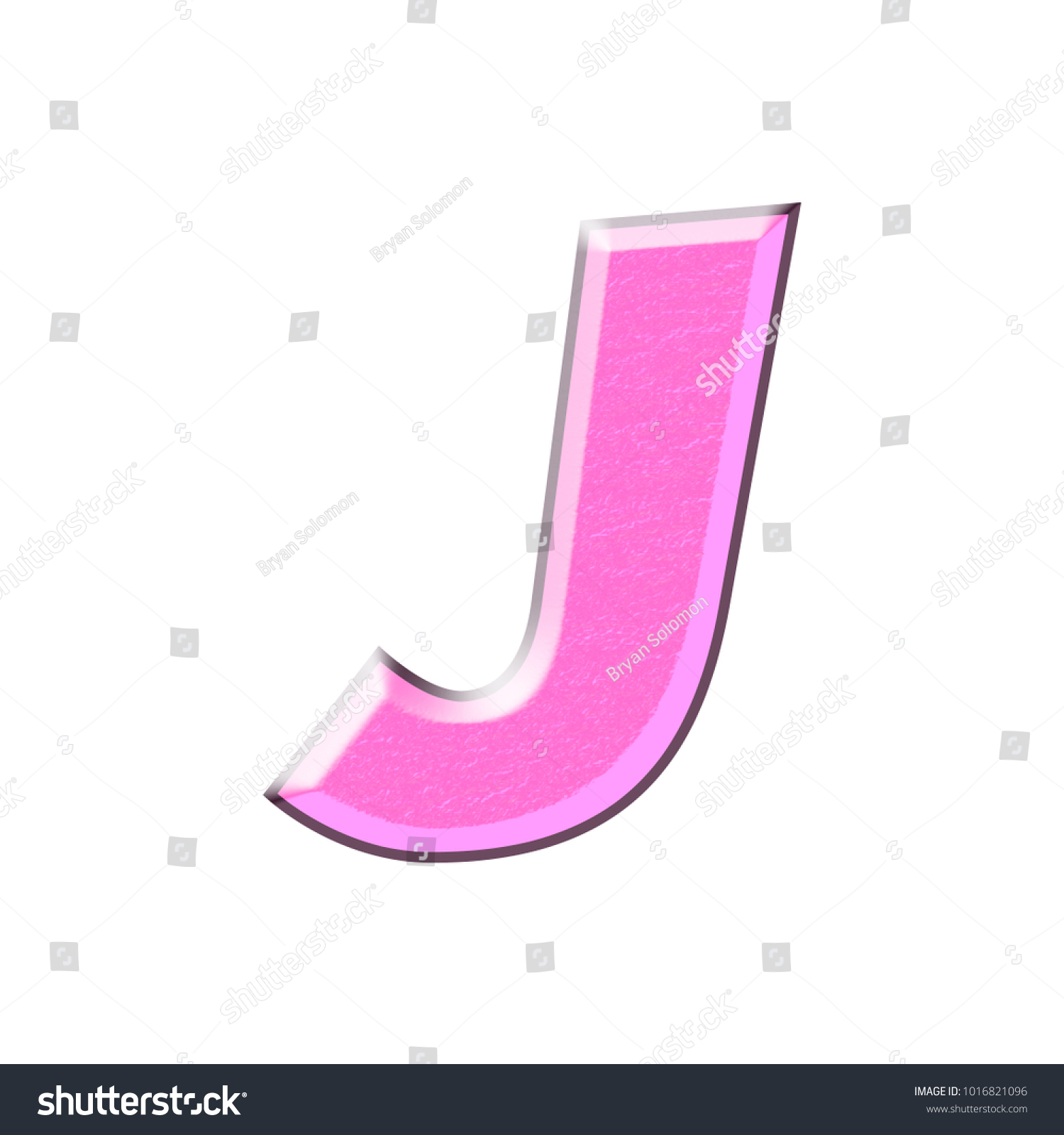 Pink Metallic Style Uppercase Capital Letter Stock Illustration ...