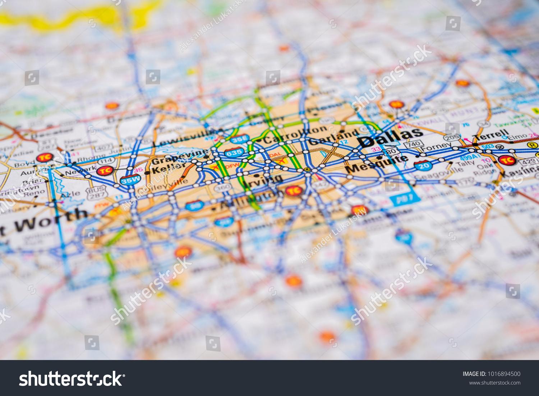 Us Map Dallas.Dallas United States Map Stock Photo Edit Now 1016894500