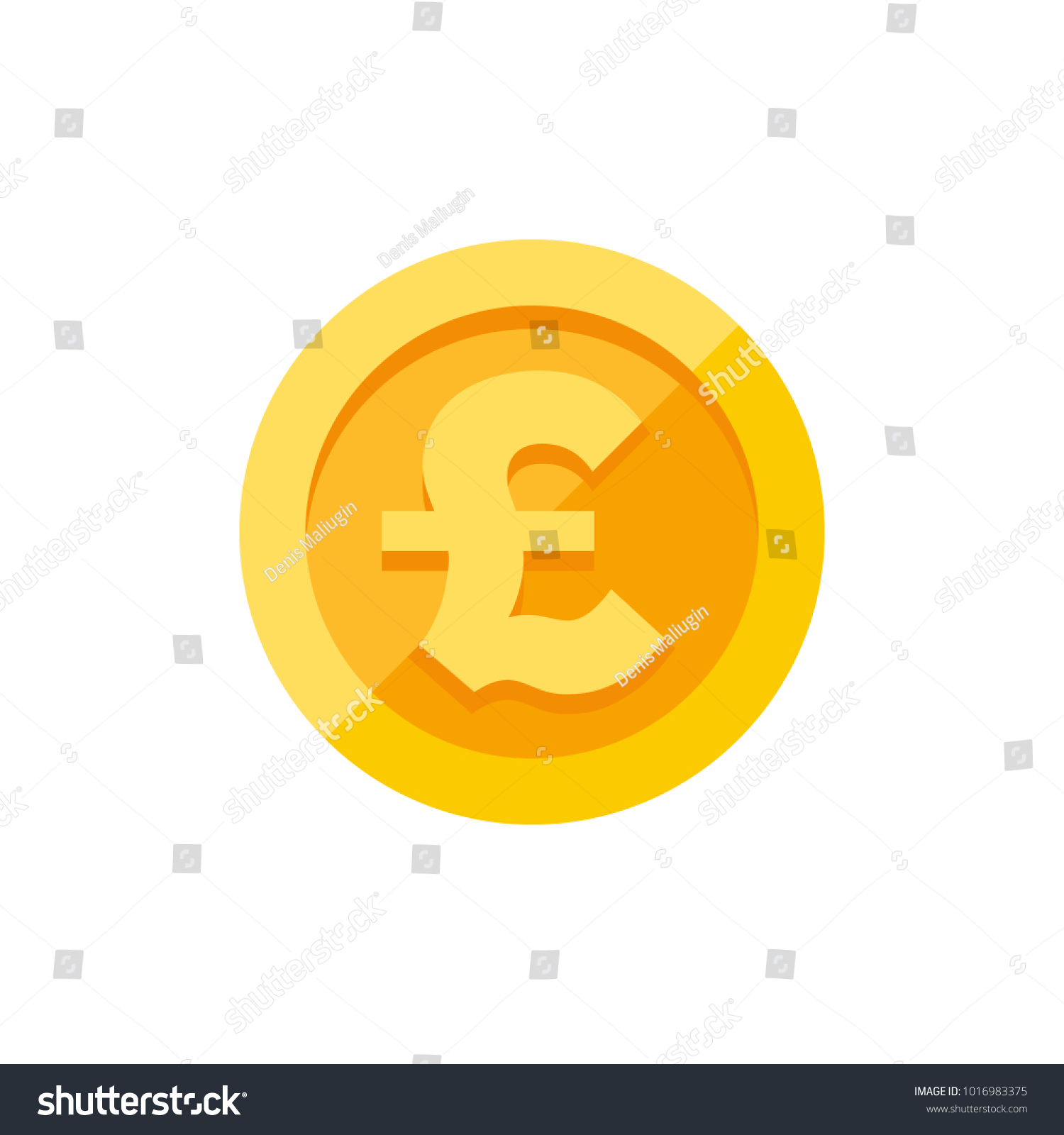 British Pound Sterling Currency Symbol On Stock Vector 1016983375