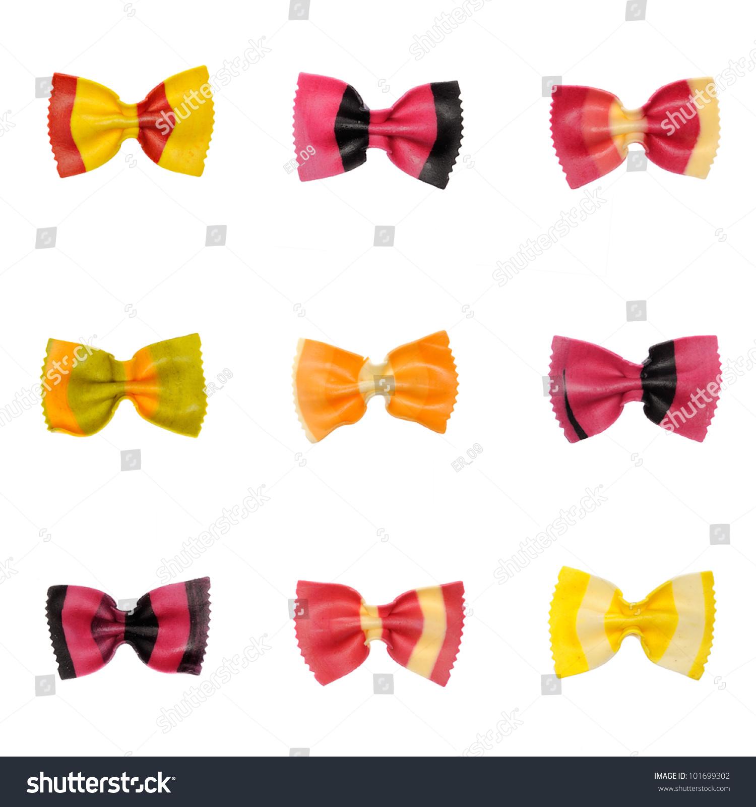 Uncooked Rainbow Farfalle Pasta Different Colours Stock Photo Edit
