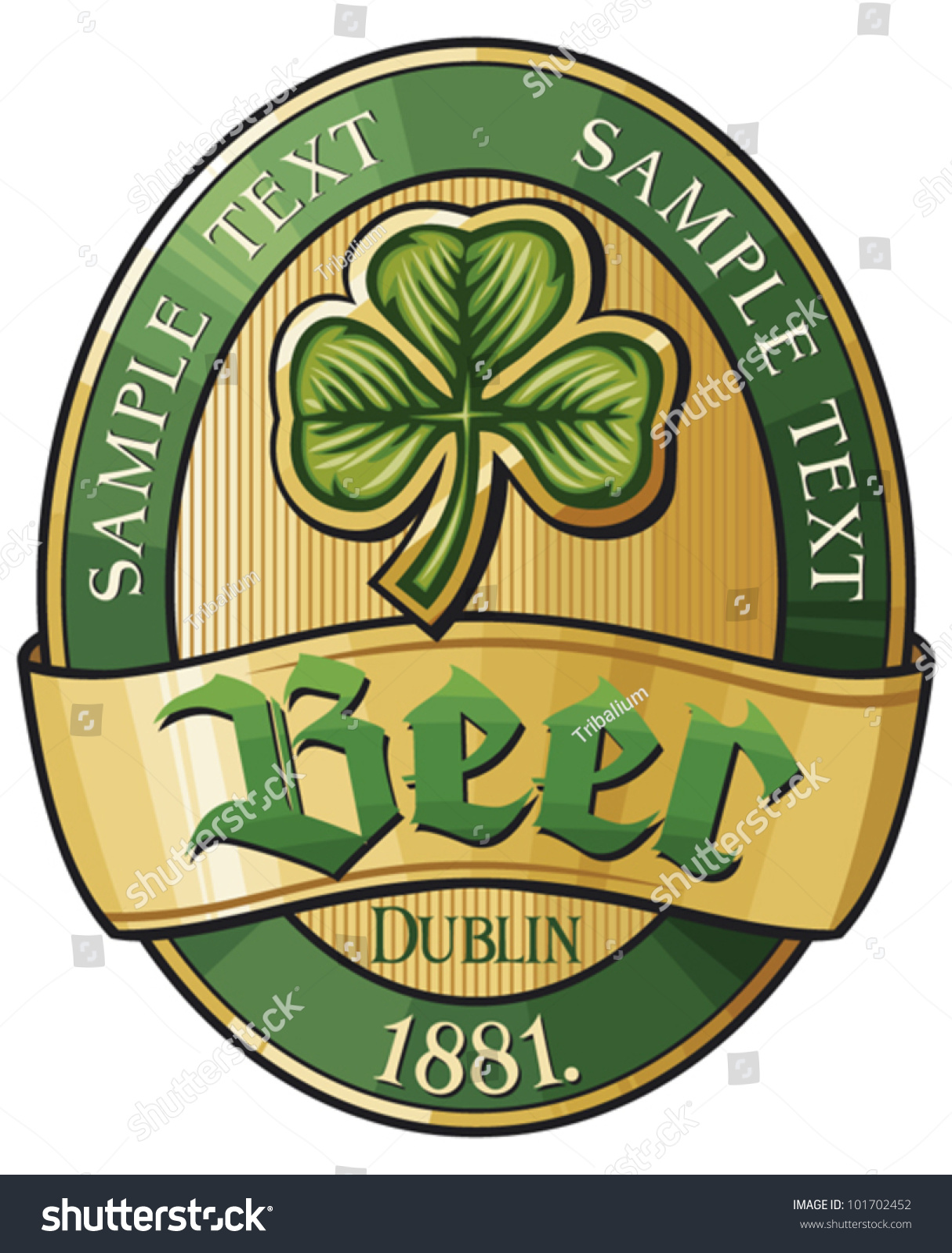 Irish Beer Label Vector 101702452 Shutterstock – Beer Label
