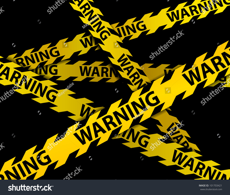 text warning black background - photo #19