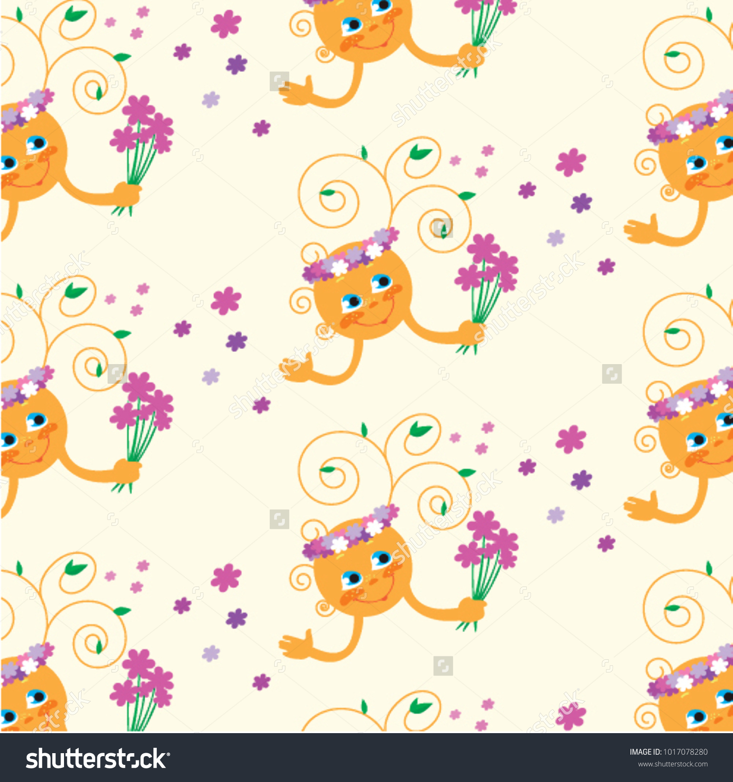 Animated sun bouquet flowers stock vector royalty free 1017078280 animated sun with a bouquet of flowers izmirmasajfo