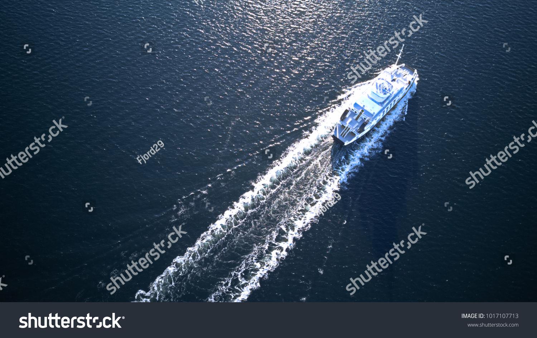 Ferry in Oslofjord, Oslo, Norway #1017107713