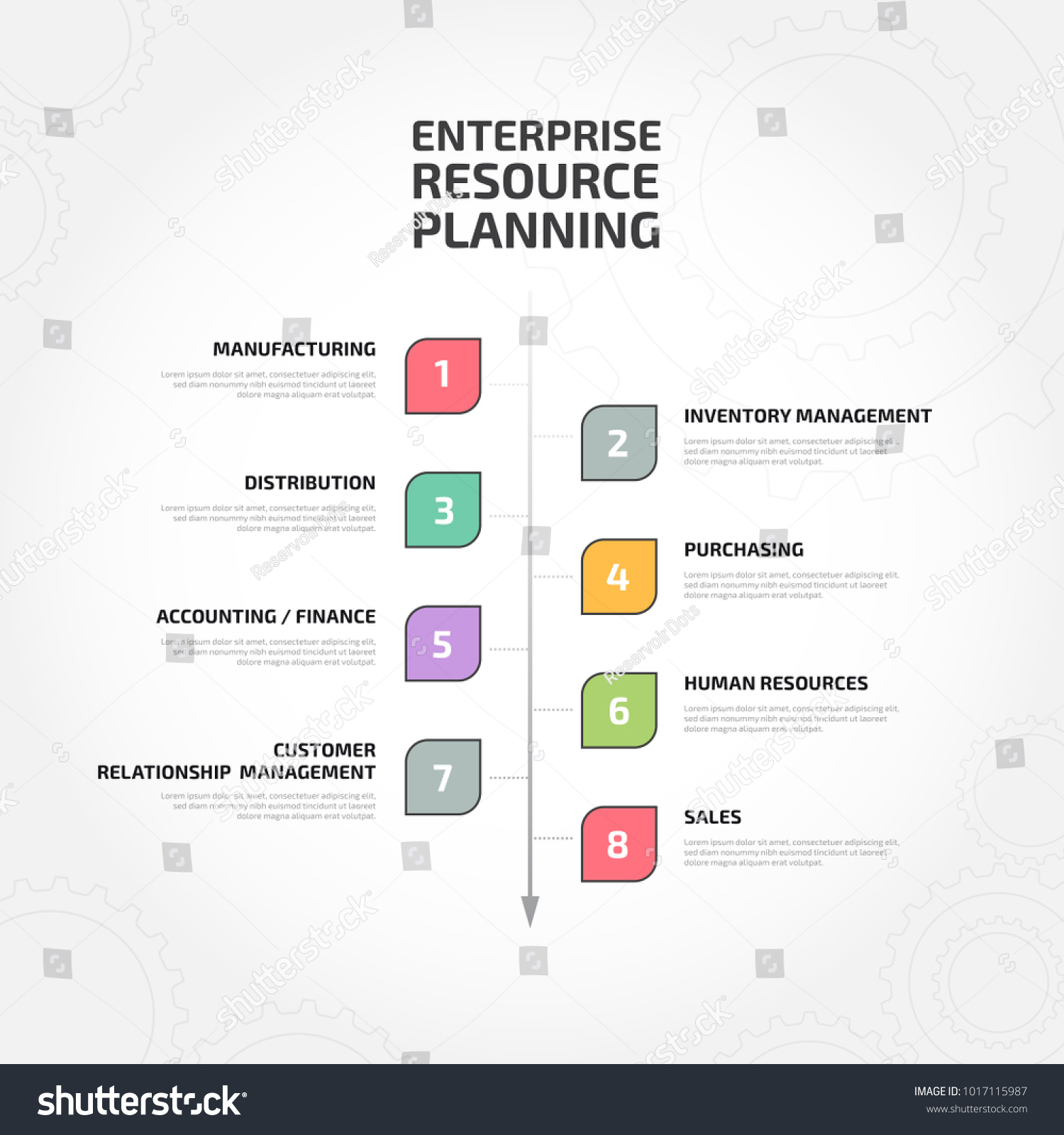 Enterprise resource planning erp process stock vector 1017115987 enterprise resource planning erp process pooptronica