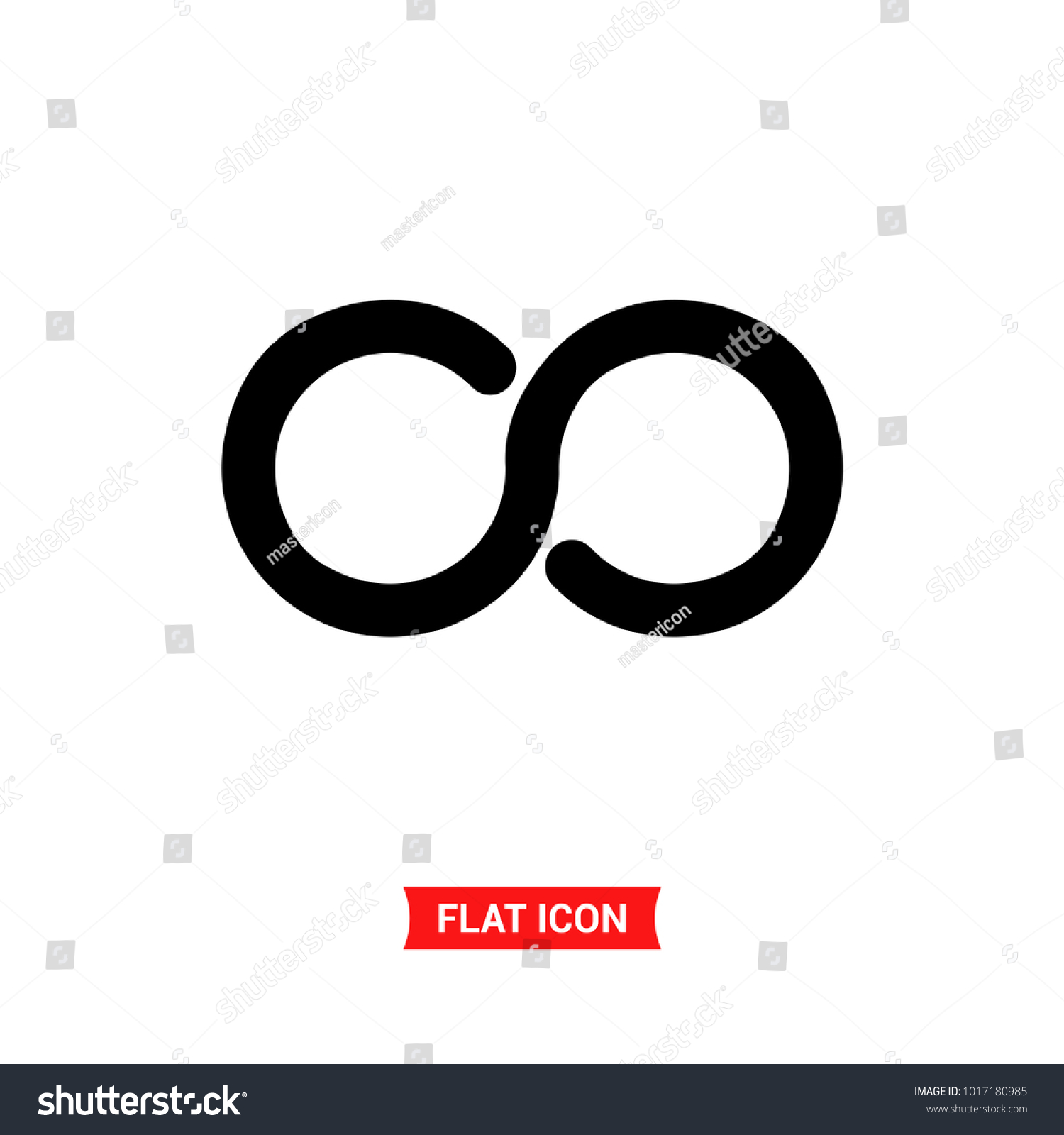 Infinity Vector Icon 8 Symbol Flat Vector Illustration For Web Or