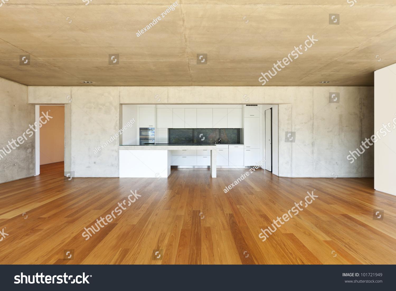 Hardwood Floor On Concrete heat cable in concrete slab under hardwood floor Modern Concrete House With Hardwood Floor Kitchen