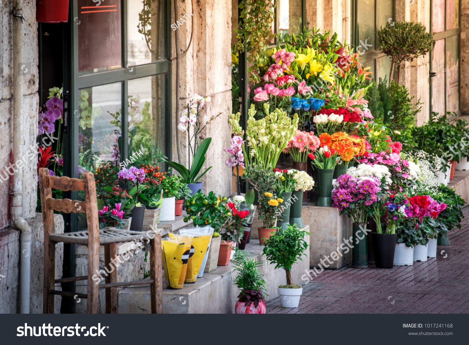Beautiful old flower shop exterior stock photo royalty free beautiful old flower shop exterior izmirmasajfo