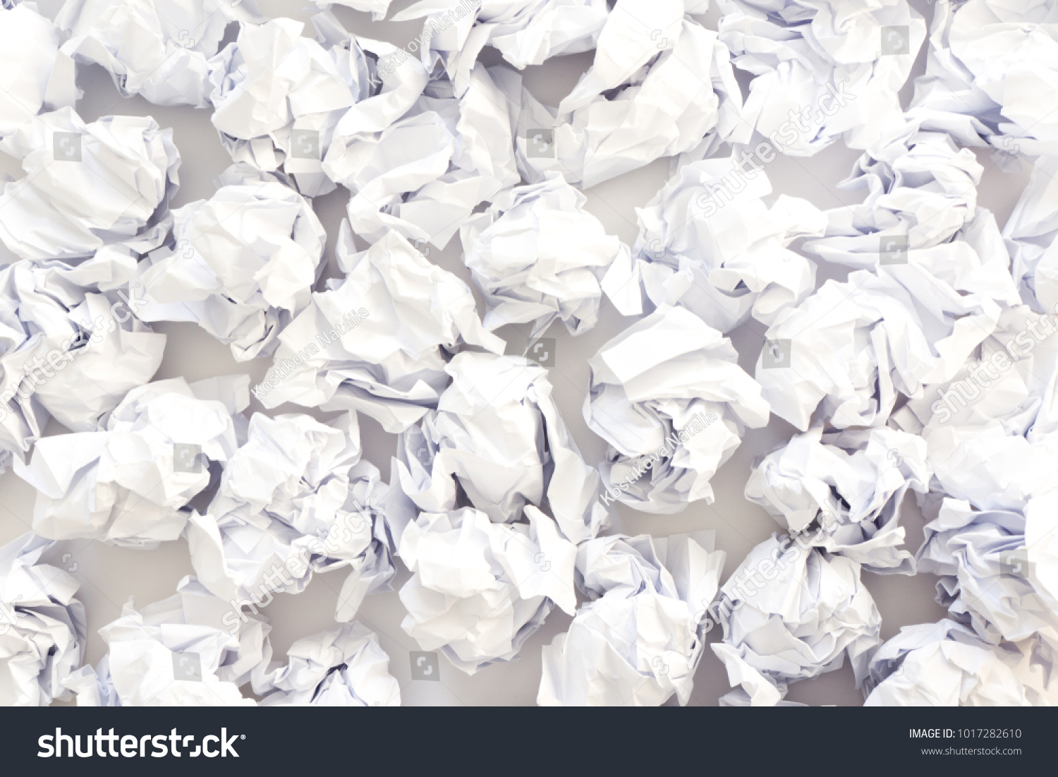 pile of crumpled paper on a white background. | ez canvas