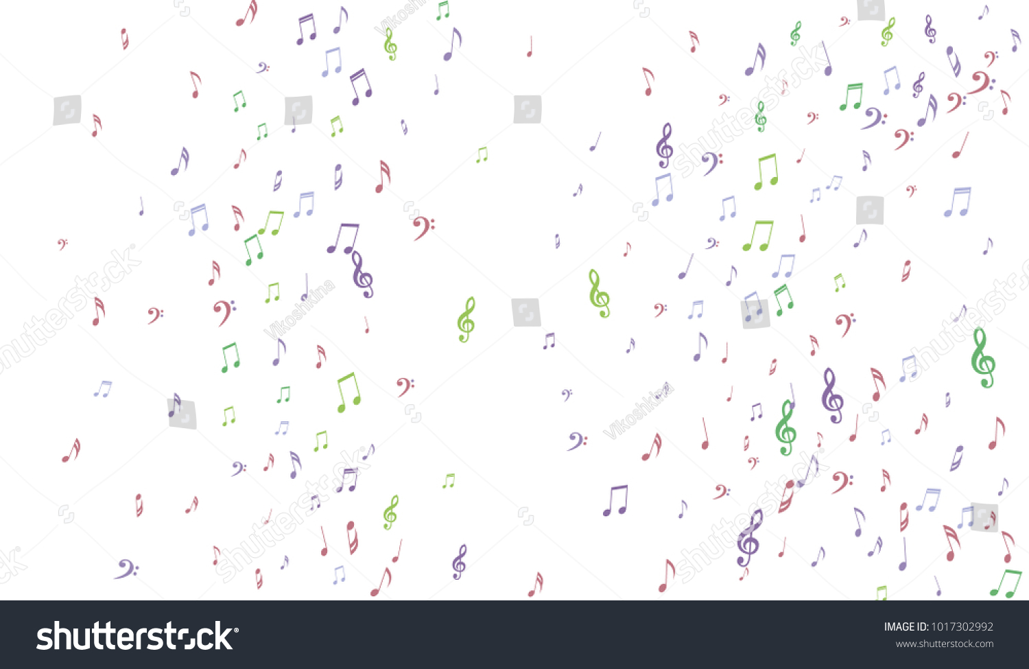 Gentle Musical Background Pastel Music Symbols Stock Vector Royalty