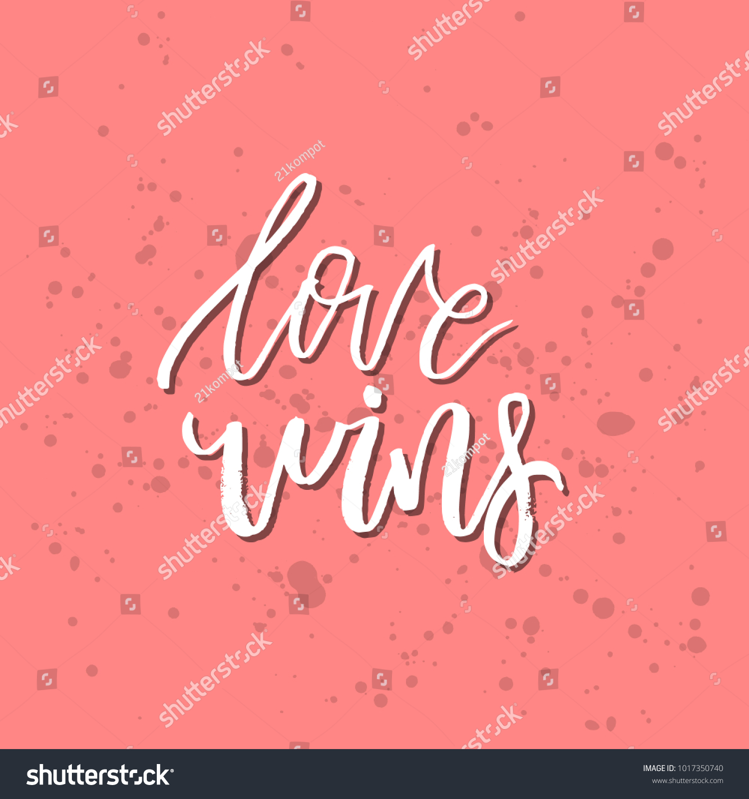 Love Wins Inspirational Valentines Day Romantic Handwritten Quote
