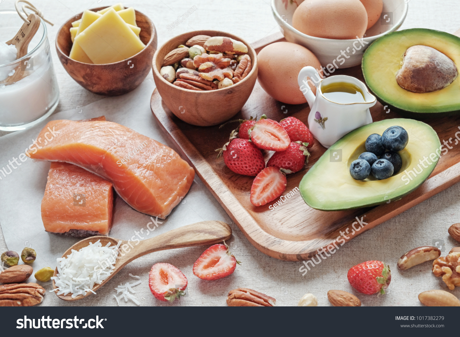 Keto, ketogenic diet, low carb, high good fat ,  healthy food, heart health #1017382279