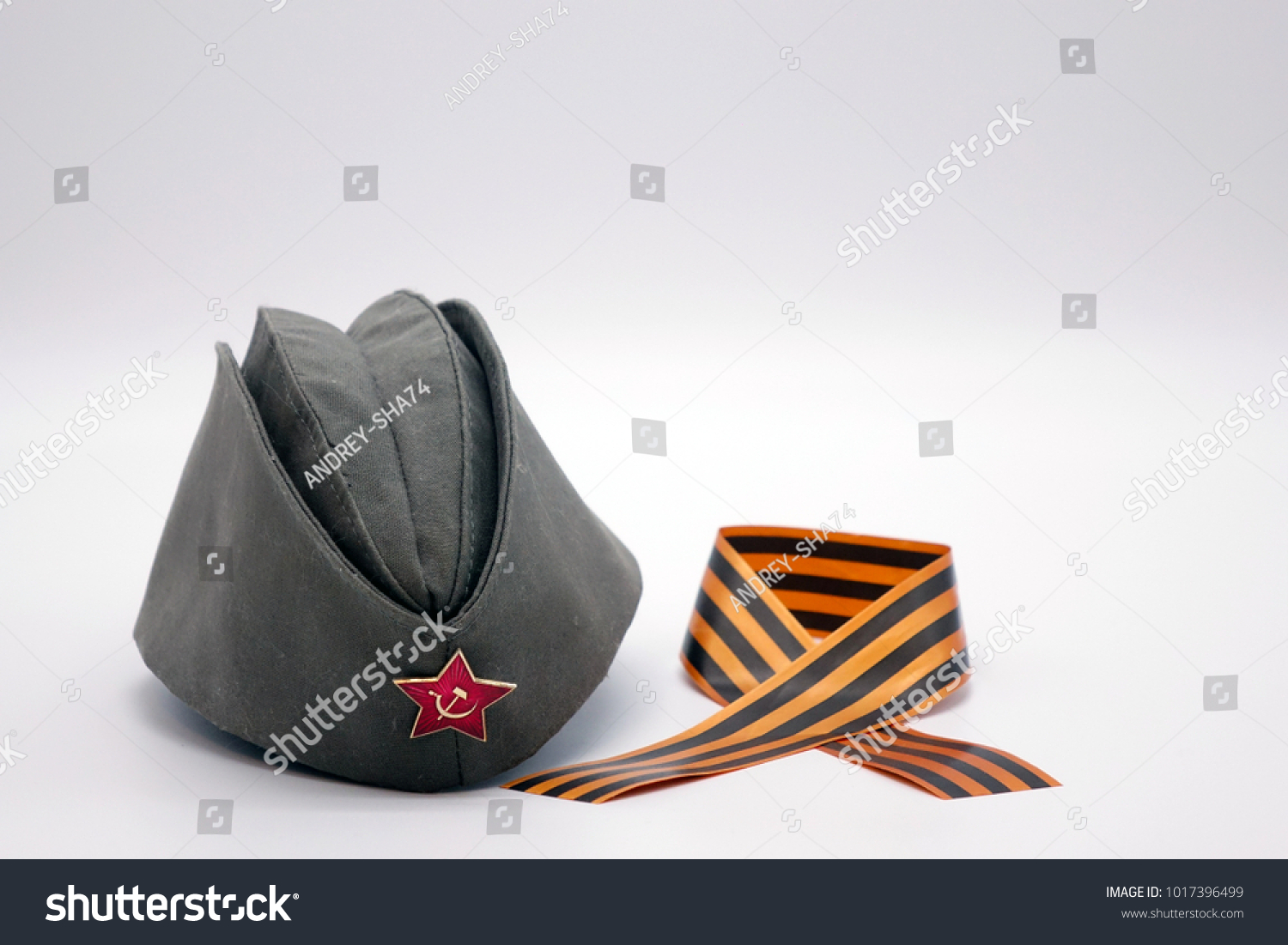 c3cd025fb Military Cap Communist Decoration Red Star Stock Photo (Edit Now ...