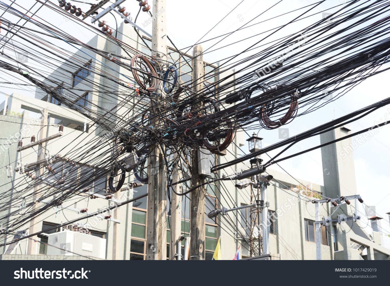 Bad Wire Assemblage Cables Wires On Stock Photo (Royalty Free ...