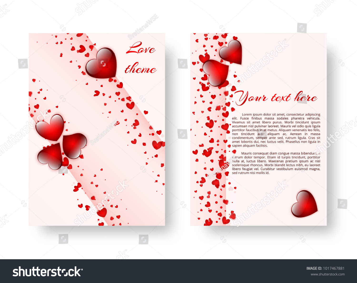 Template Greeting Card Wedding Anniversary Red Stock Vector Royalty