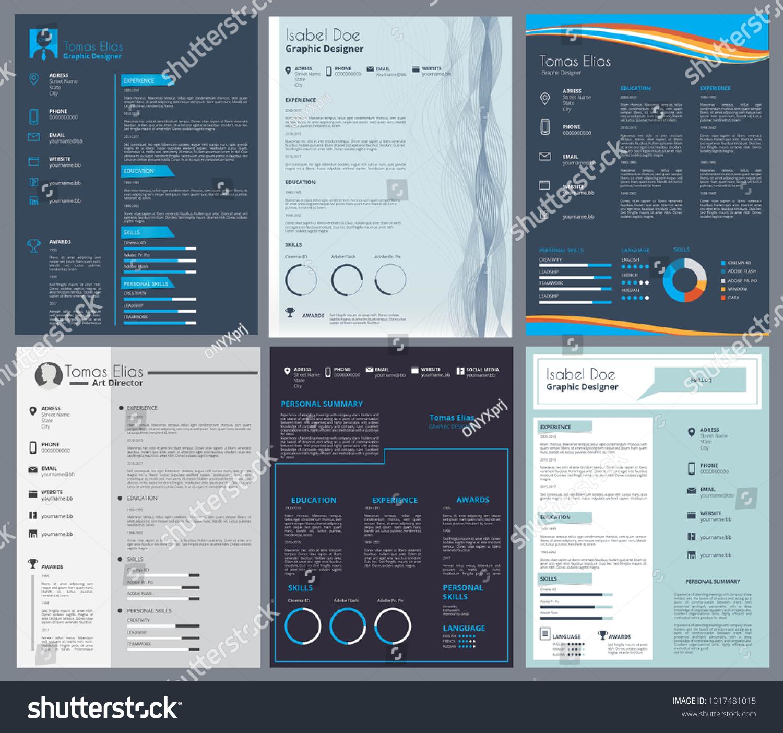 Resume Curriculum Vitae Design Template Place Vector de ...