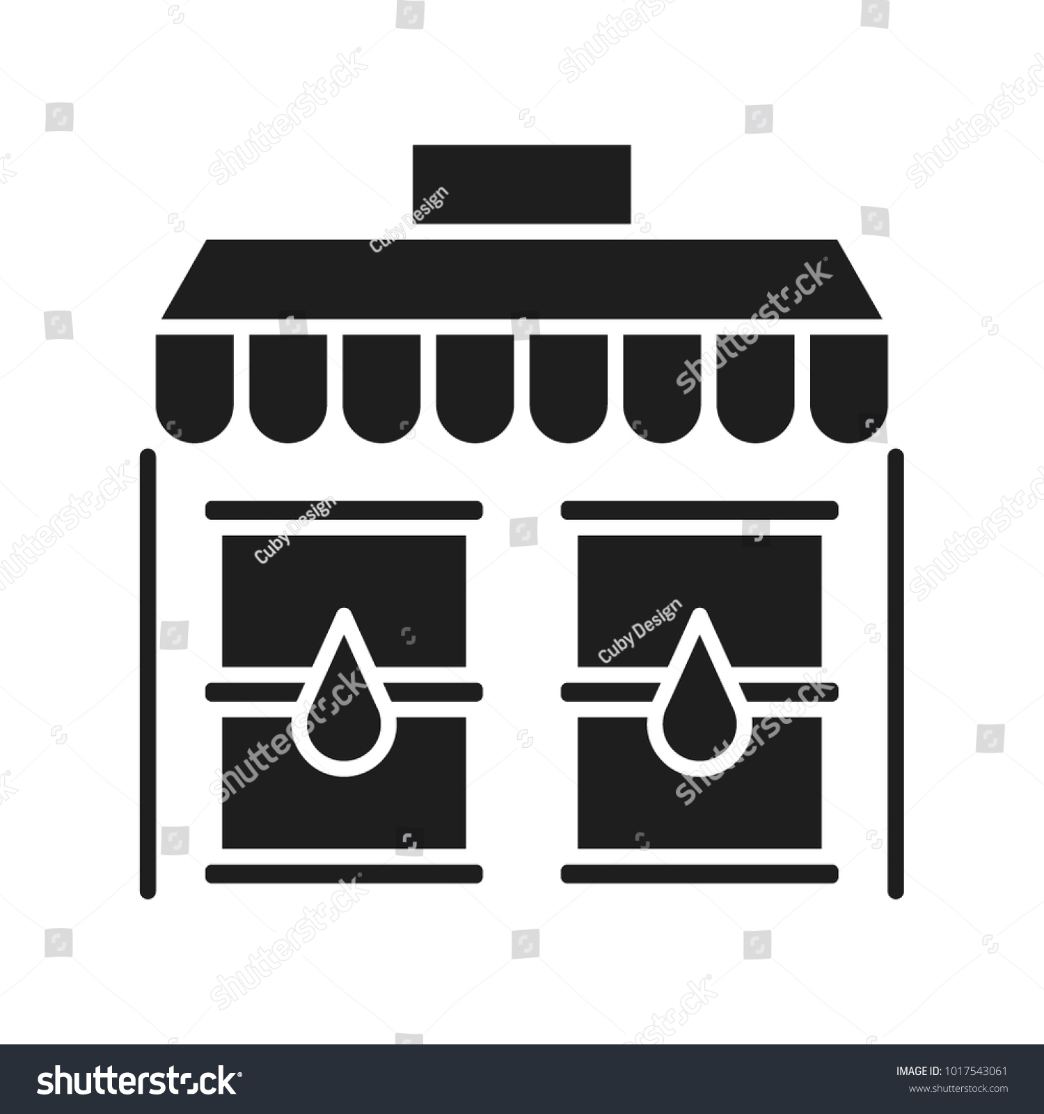 Oil Market Vector Icon Stock Vector Royalty Free 1017543061