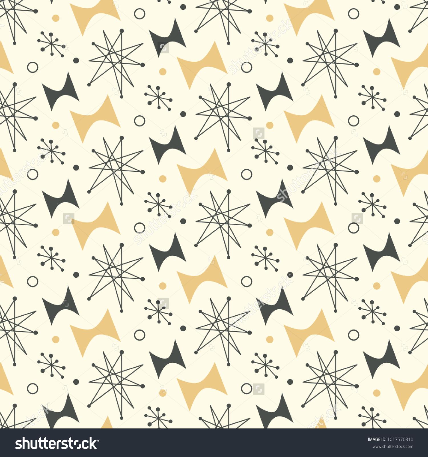 Mid Century Modern Seamless Pattern 1950s 1017570310