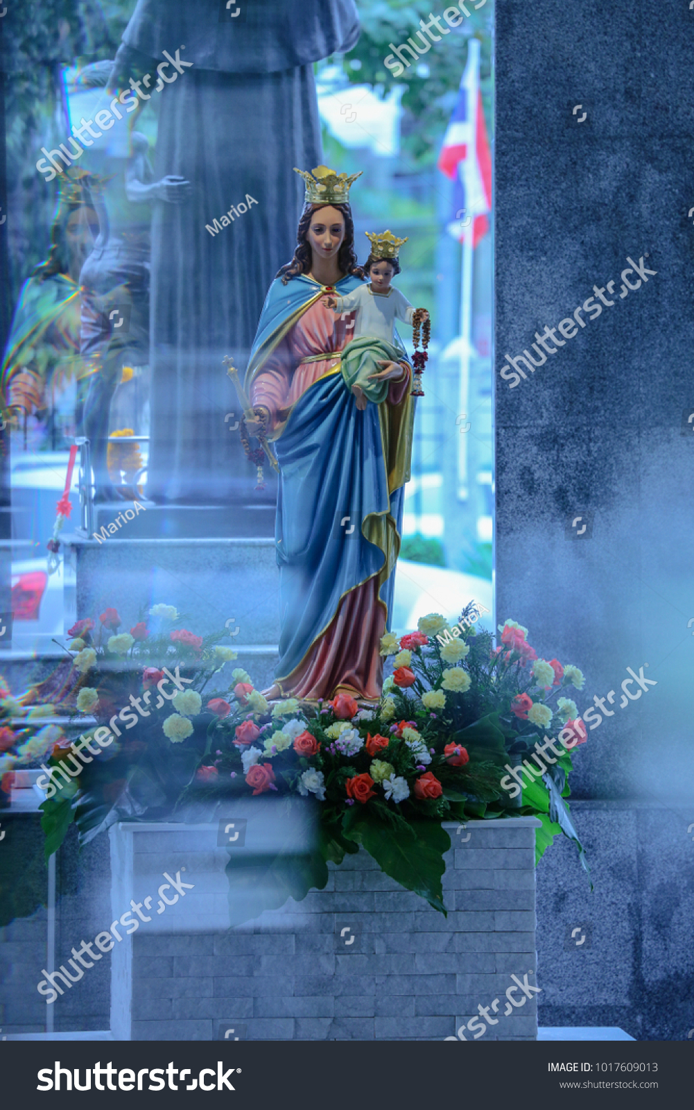 Catholic Statue Our Lady Help Christians Stock Photo (Edit Now