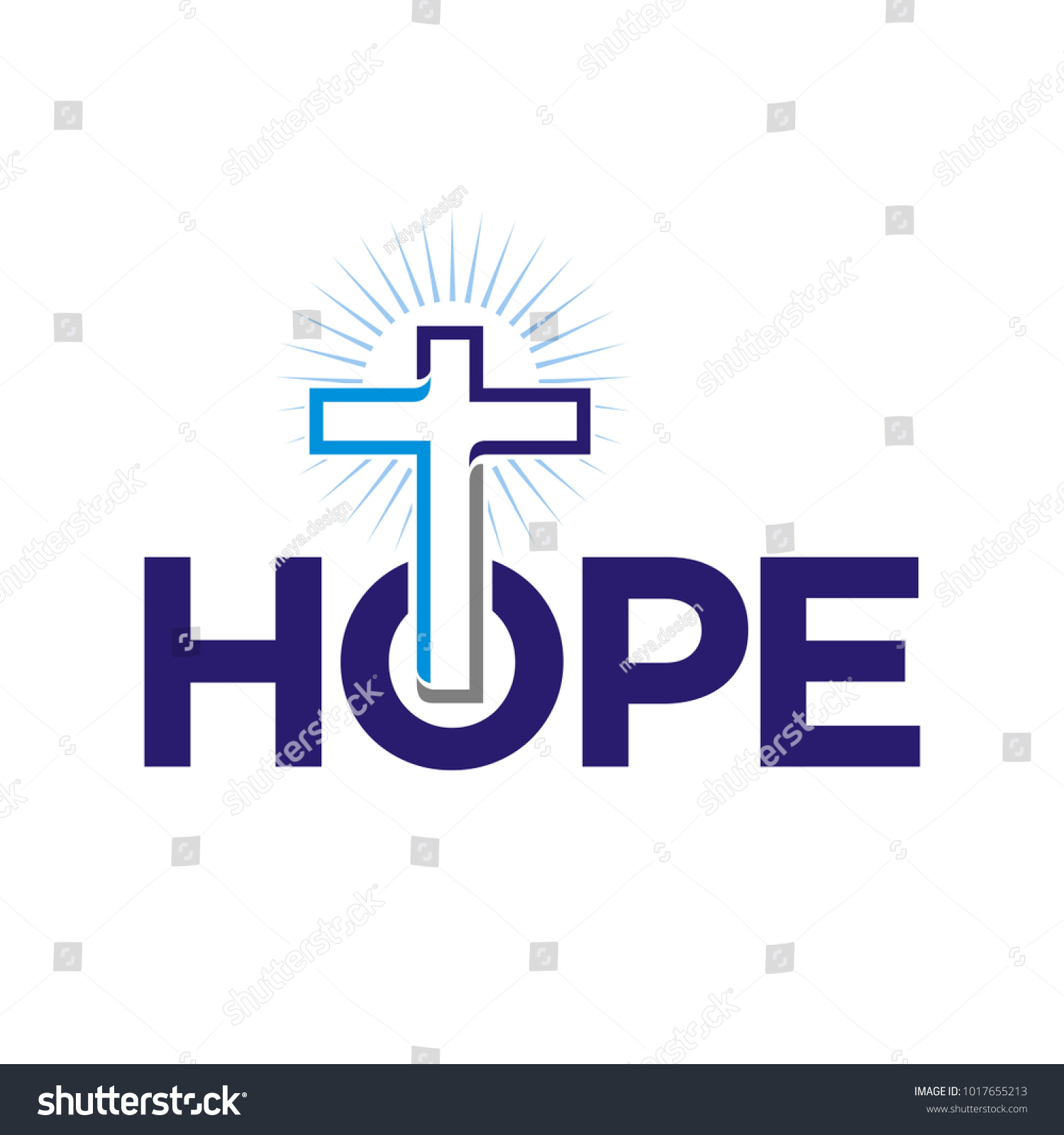 Hope Church Logo Symbol Tshirt Design Stock Vector Royalty Free