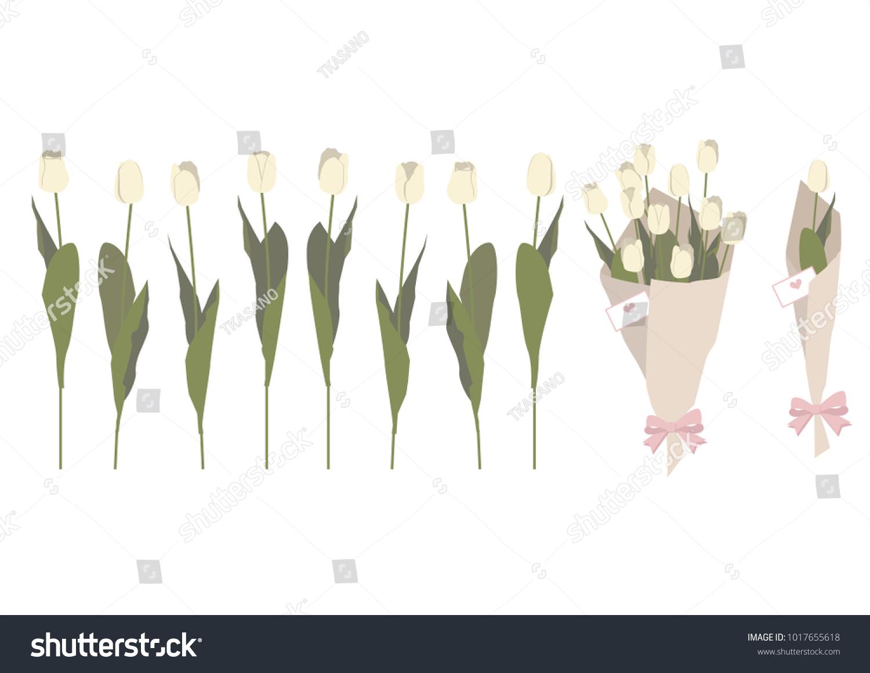 Spring flower gift clip art illustration stock vector royalty free spring flower gift clip art illustration of tulips spring flower material collection mightylinksfo