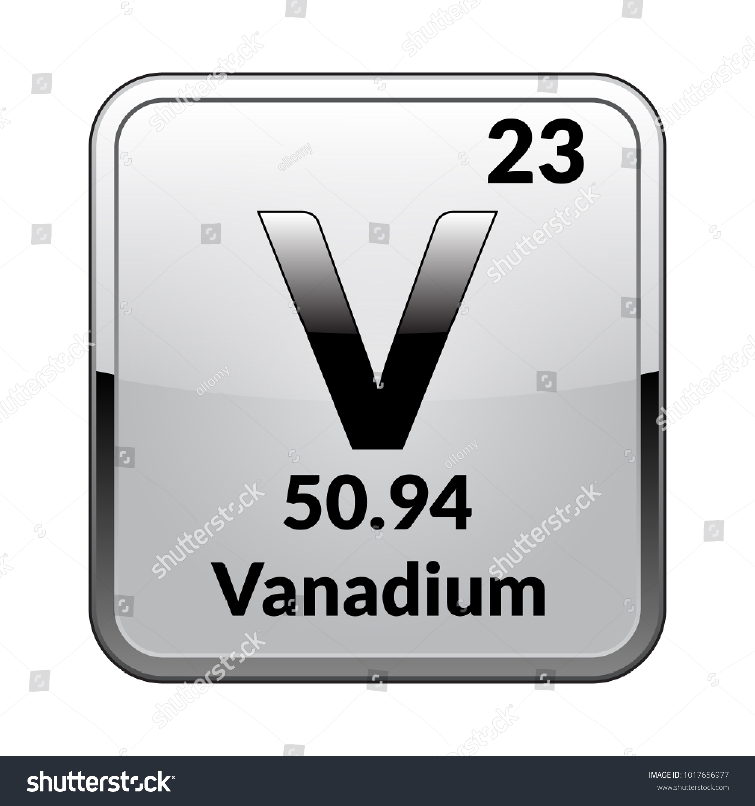 Vanadium symbolchemical element periodic table on stock vector vanadium symbolemical element of the periodic table on a glossy white background in a biocorpaavc Gallery