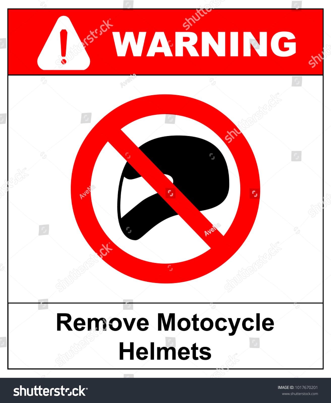 Remove Motorcycle Helmets Icon Symbol Protection Stock Vector