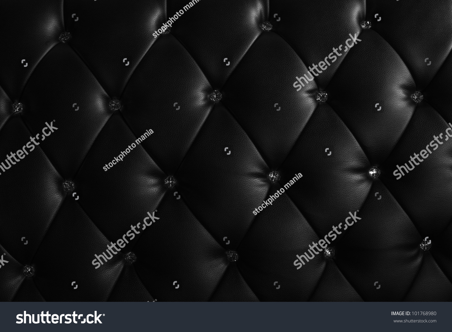 Black leather chair texture - Luxury Texture Leather Furniture Decorated Crystal Stock Photo
