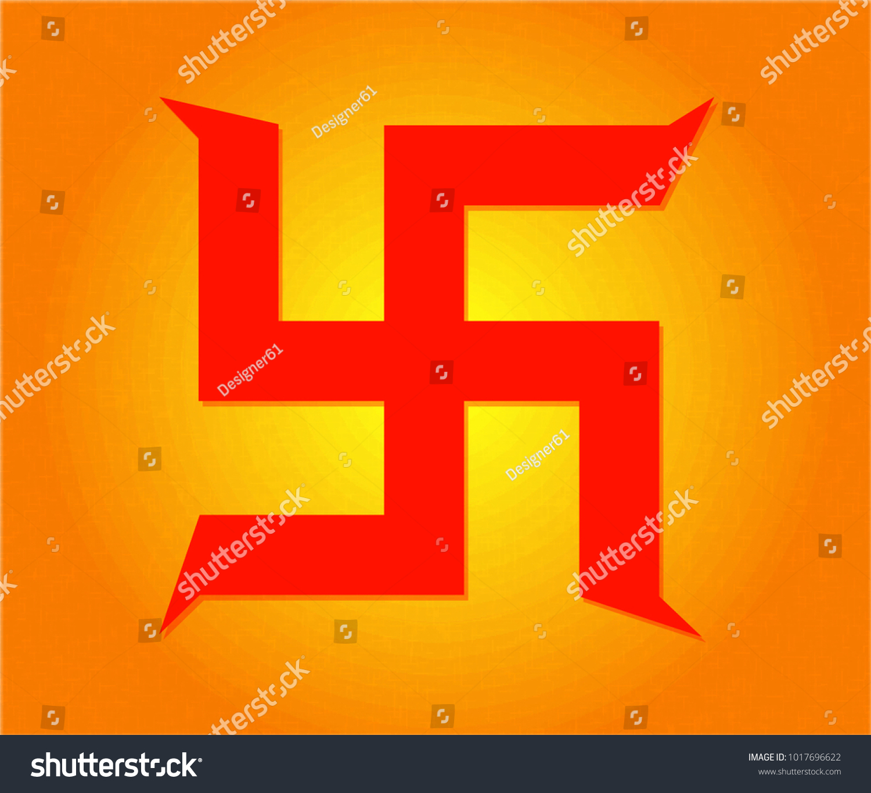 Swastika Symbol Hindus Stock Vector Royalty Free 1017696622