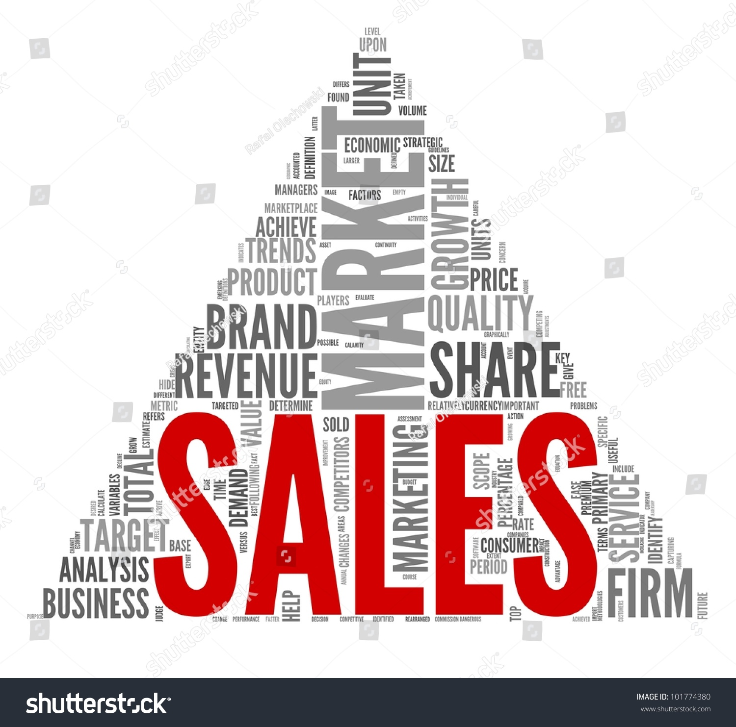 sales market concept word tag cloud stock illustration 101774380