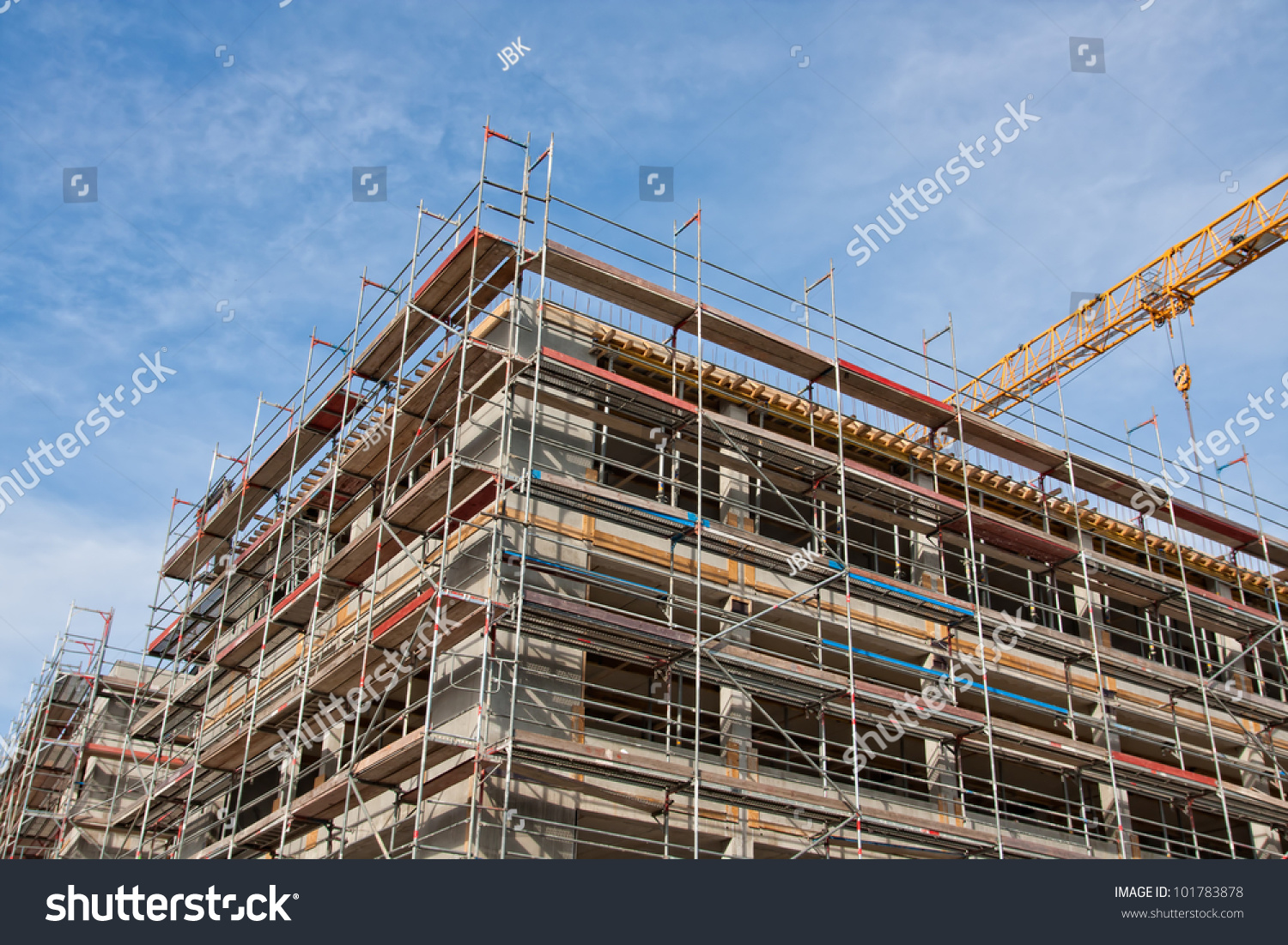 Large Construction Site Scaffolding Building Yellow Stock Photo 101783878 Shutterstock