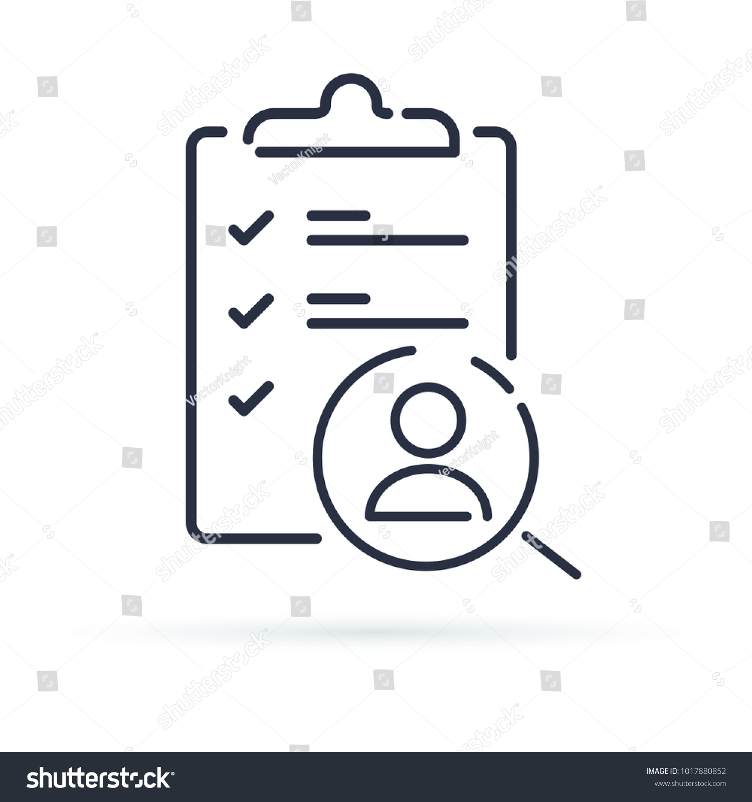 Recruitment Service Human Resources Choose Candidate Stock Vector