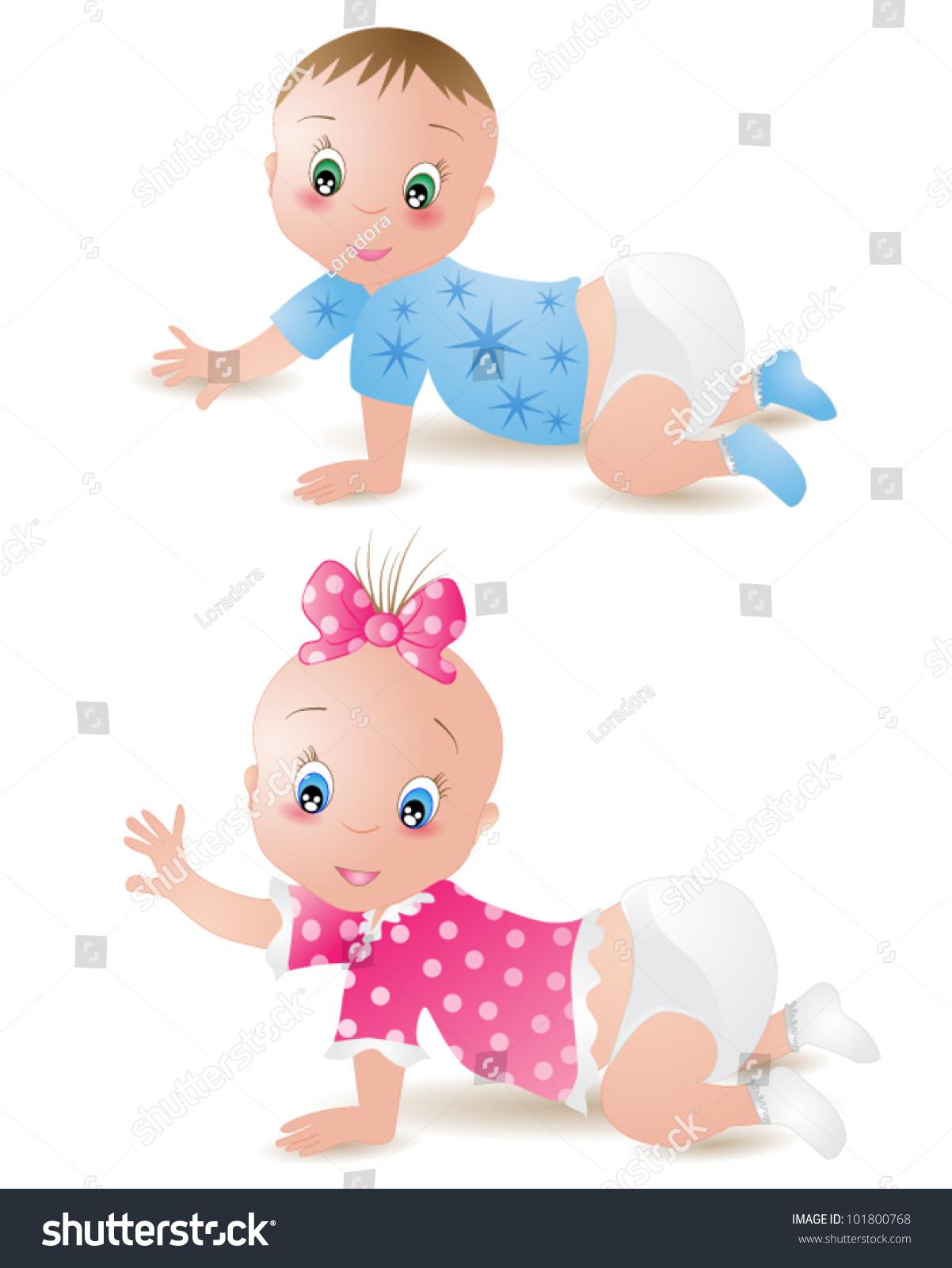 baby girl boy stock vector (royalty free) 101800768 - shutterstock